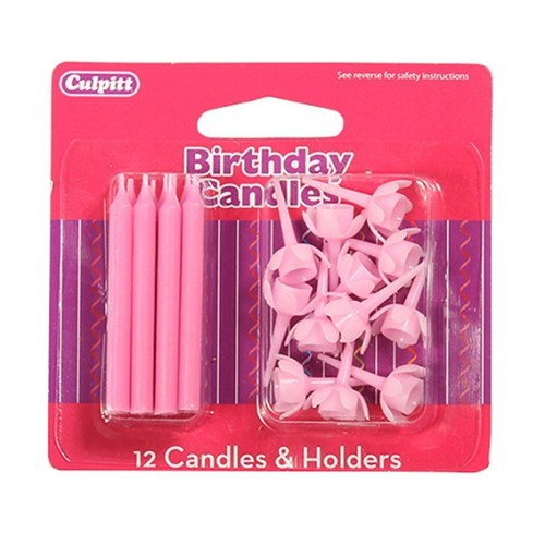 Birthday Candles & Holders, Pink
