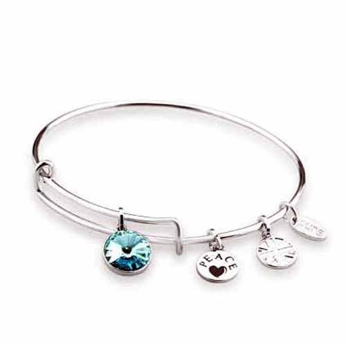 Swarovski Birthstone Bangle, December/Turquoise