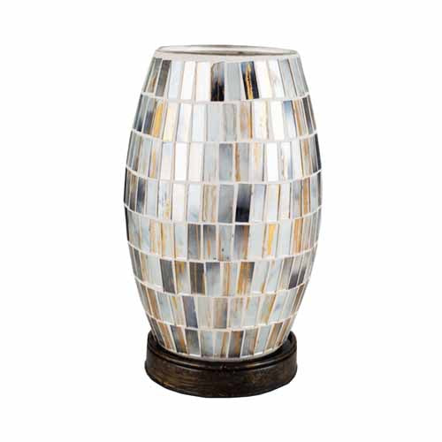 Mosaic Table Lamp, 22cm, Black