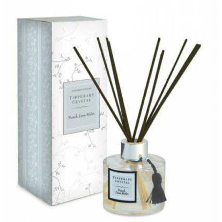 Tipperary Crystal Diffuser Set, French Linen Water