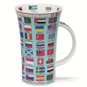 Dunoon Glencoe Fine Bone China Mug, Flags Of The World