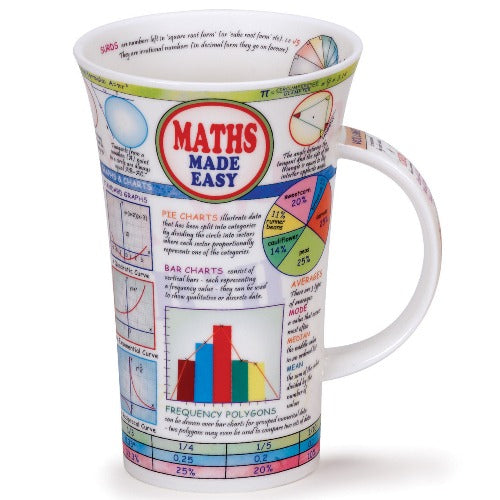 Dunoon Glencoe Fine Bone China Mug, Maths Made Easy