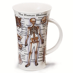 Dunoon Glencoe Fine Bone China Mug, Human Body