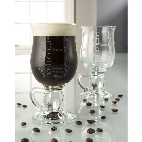 Galway Crystal Irish Coffee, Set of 2