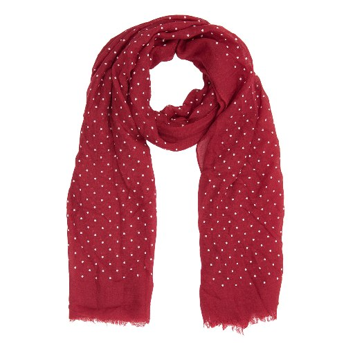 Dots Scarf, 70cm x 180cm, Red
