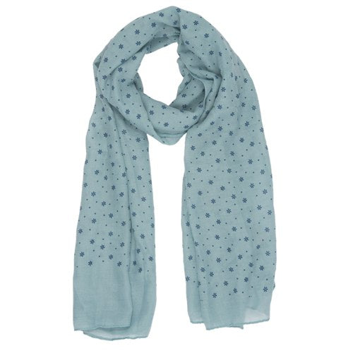 Little Flowers Scarf, 80cm x 180cm, Green