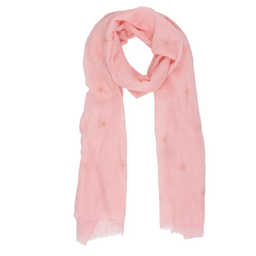 Heavenly Stars Scarf, 70cm x 180cm, Pink