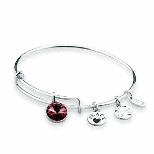 Swarovski Birthstone Bangle, January/Garnet