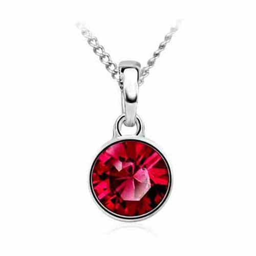 Swarovski Birthstone Pendant, July/Ruby