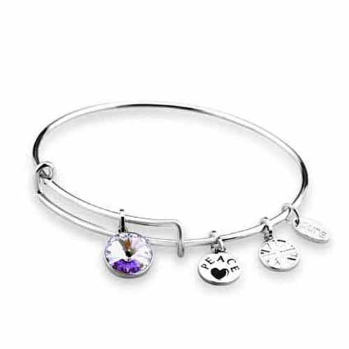 Swarovski Birthstone Bangle, June/Alexandrite