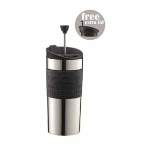 Bodum Stainless Steel Travel Press Set, Black