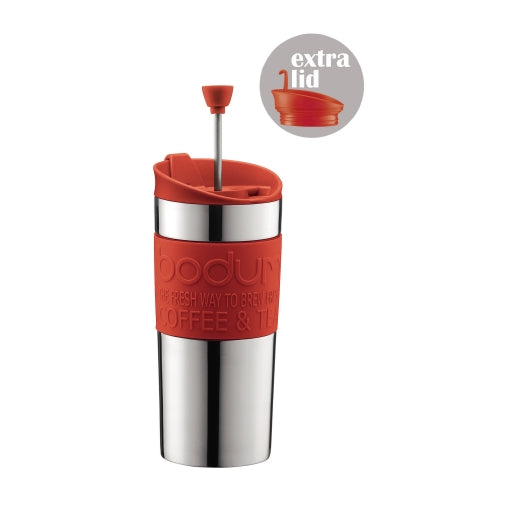 Bodum Stainless Steel Travel Press Set Red