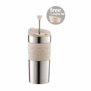 Bodum Stainless Steel Travel Press Set, Off White
