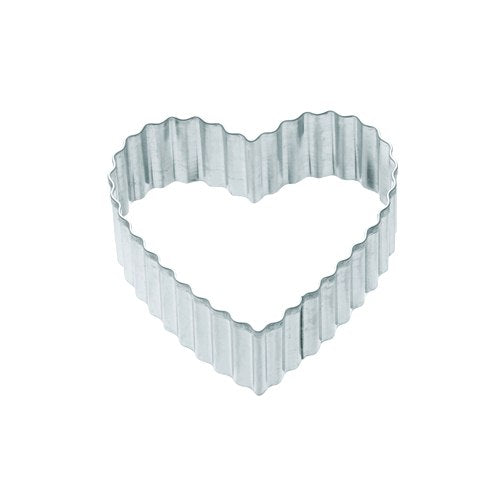 Kitchencraft Fluted Heart Shaped Metal Cookie Cutter, 5cm