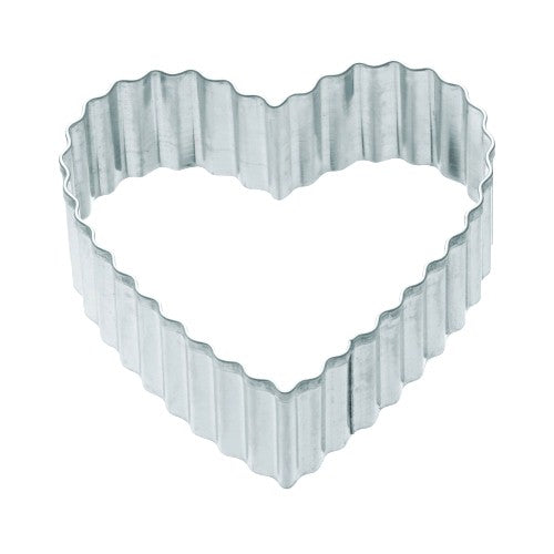 Kitchencraft Fluted Heart Shaped Metal Cookie Cutter, 7cm