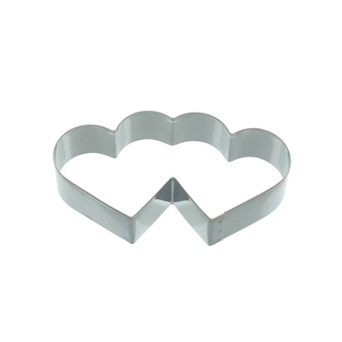 Kitchencraft Double Heart Shaped Cookie Cutter, 11.5cm