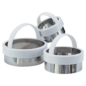 Kitchencraft Plain Pastry Cutters, Set Of 3