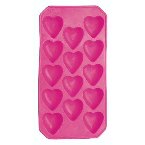 BarCraft Flexible Shape Ice Cube Tray, Heart