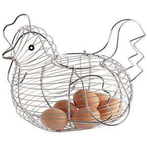Chrome Plated Egg Storage Basket