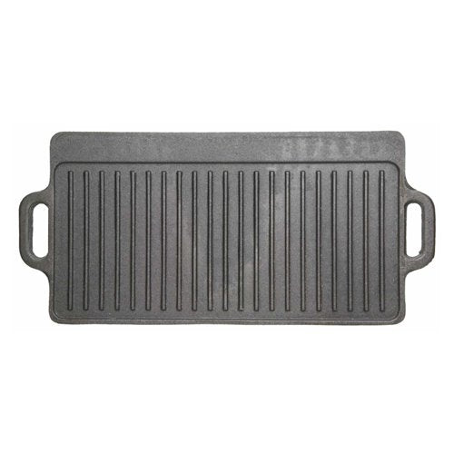 "Deluxe Cast Iron Griddle, 50cm x 23cm/20"" x 9"""