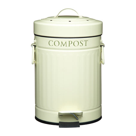 Compost Pedal Bin With Charcoal Filter, 3 Litre