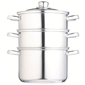 Clearview Stainless Steel 3 Tier Steamer, 22cm/9""