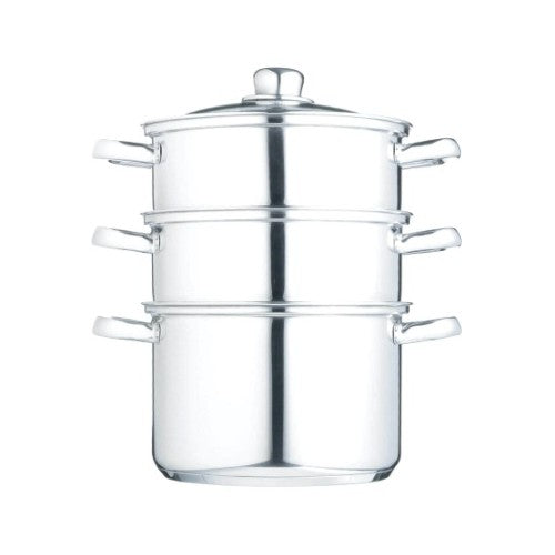 Kitchencraft Stainless Steel 3 Tier Steamer, 16cm