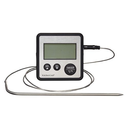 Kitchencraft Digital Meat & Food Thermometer & Timer