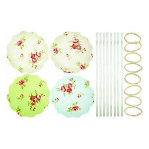 Fabric Jam Cover Kits, Floral, Pack of 8