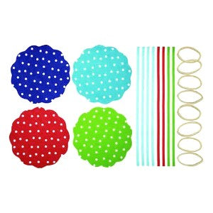 Fabric Jam Cover Kits, Polka Dot, Pack of 8