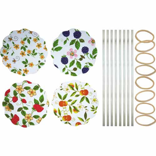 Fabric Jam Cover Kits, Fruits, Pack of 8