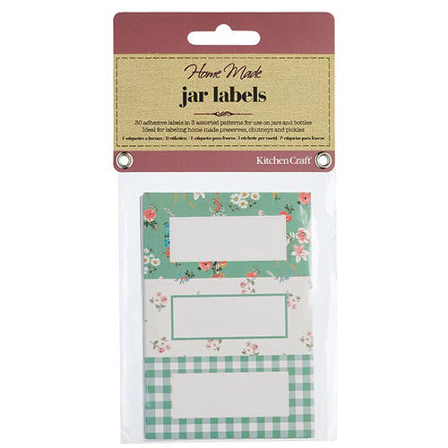 Self-Adhesive Jam Jar Labels, Sage Green, Pack of 30