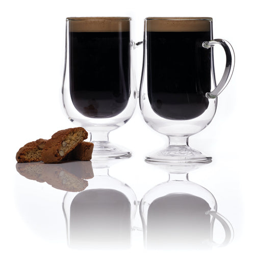 Le'Xpress Double Walled Irish Coffee Glasses, Set Of 2