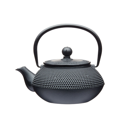 Le'Xpress Cast Iron Infuser Teapot, (a) 600ml, Black