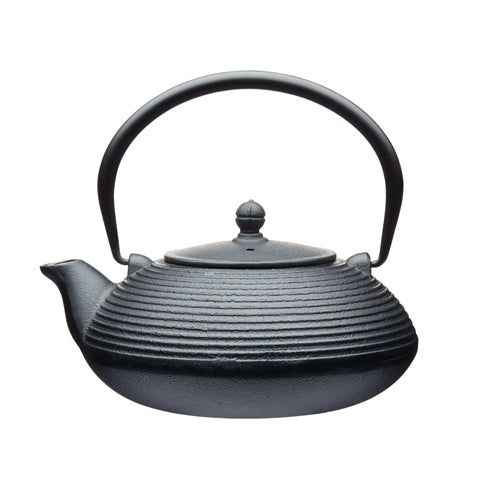 Cast Iron Infuser Teapot, 900ml, Black