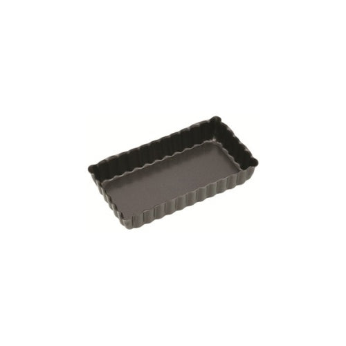 Kitchencraft Mini Fluted Oblong Tart Tin, Non-Stick, 11cm x 6cm
