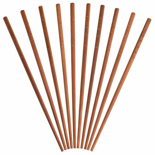 Kitchencraft Oriental Bamboo Chopsticks, 10 Piece