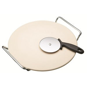 World of Flavours Pizza Stone Set, 32cm/12.5""