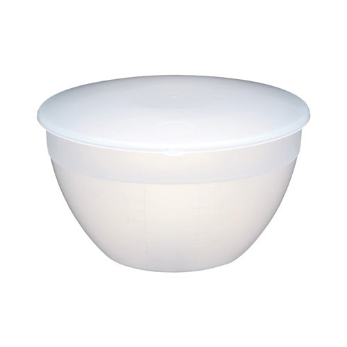Kitchencraft Plastic Pudding Basin with Lid, 3 Pint/1.7l