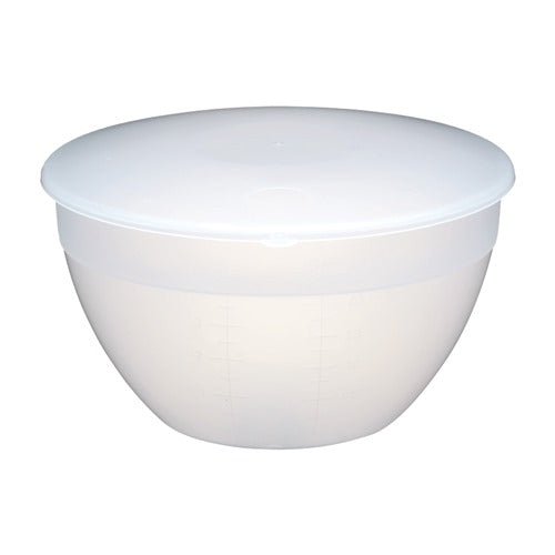 Kitchencraft Plastic Pudding Basin with Lid, 4 Pint/2.3l