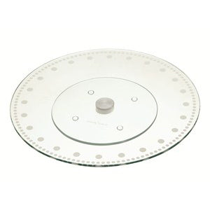 Kitchencraft Glass Revolving Cake Stand, 30cm