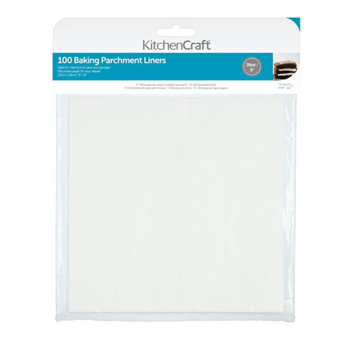 Square Siliconised Baking Papers, 20cm