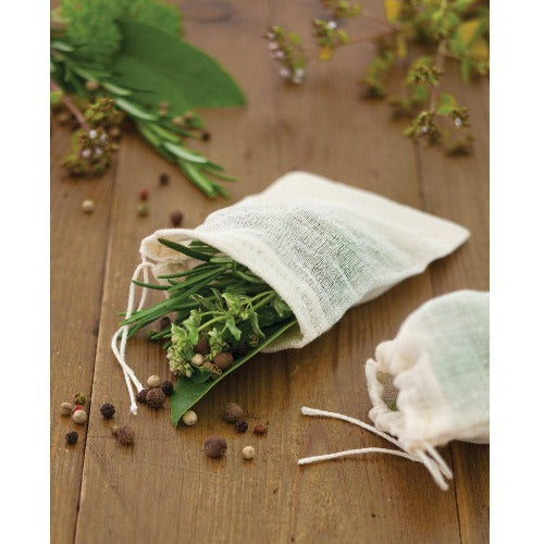 Reusable Cotton Spice Bags, Pack Of 4
