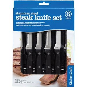 Deluxe Six Piece Steak Knife Set
