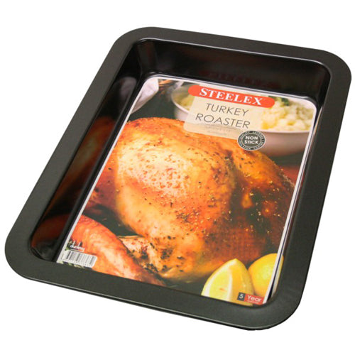 STEELEX LARGE TURKEY ROASTING PAN, 42CM