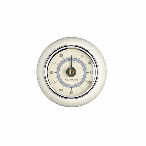 Magnetic Kitchen Timer, Antique Cream