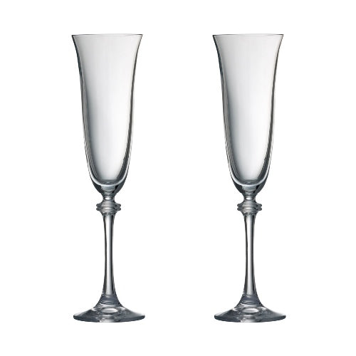 Galway Crystal Liberty Flute, Set Of 2