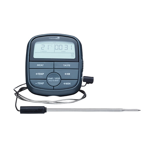Masterclass Digital Cooking Meat Thermometer & Timer