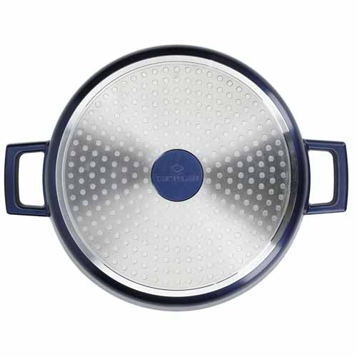 Lightweight Non-Stick Casserole, Metallic Blue, 2.5L
