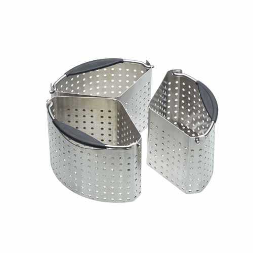 Stainless Steel Saucepan Divider Baskets, Set Of 3